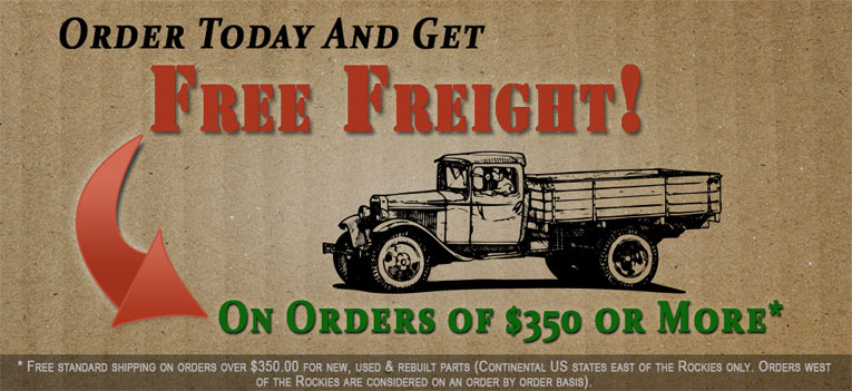 Tractor Parts Orders Of $350 Or More Receive Free Freight